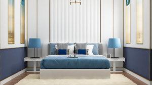 bedroom modern white style 3D