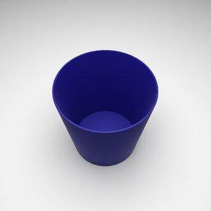 plastic bin 3D model