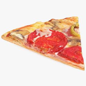 3D pizza slice model