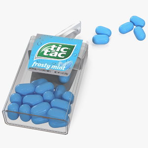 3D spilled tic tac frosty
