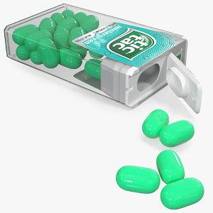 3D model spilled tic tac wintergreen