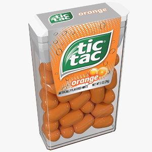 tic tac orange flavour 3D model