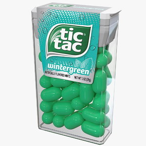 tic tac wintergreen candy 3D