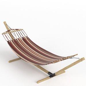 3D hammock wooden stand model