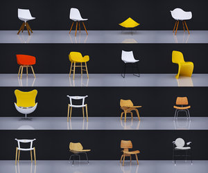 chairs 16 3D model