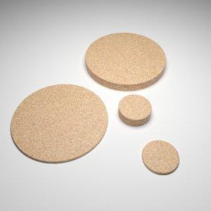 3D cork mats
