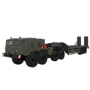 military vehicle maz-537g trailer 3D model