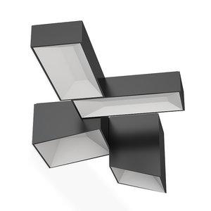 3D vibia link xxl ceiling lamp