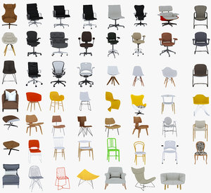chairs 55 3D model