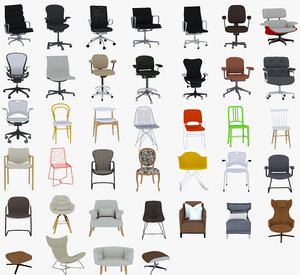 39 chairs 3D