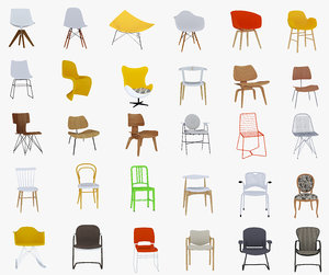 30 chairs 3D model