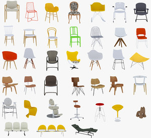 38 chairs 3D model