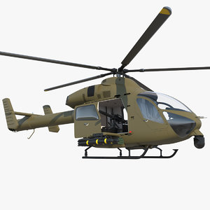 3D model attack helicopter rigged copters
