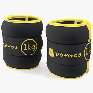 domyos adjustable wrist ankle 3D