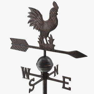 3D model vintage cast iron rooster