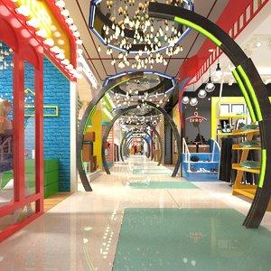 3D model shopping aisle