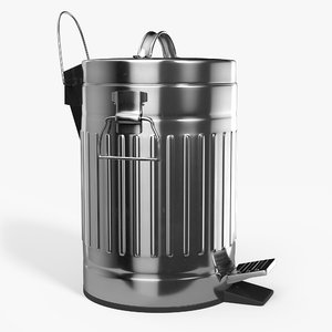 pedal trash bin contains 3D model