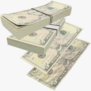dollars bills banknotes model