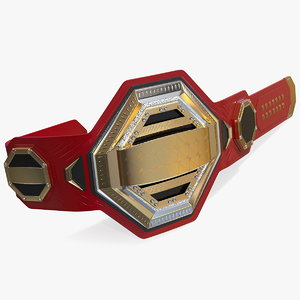gold champion belt 3D
