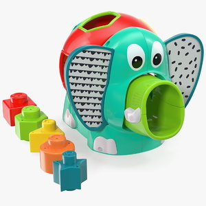 elephant shape sorter toy 3D model