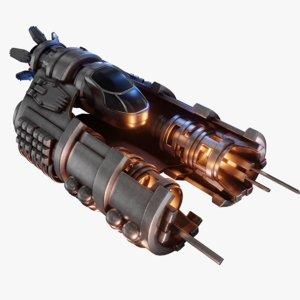 spaceship engine 3D