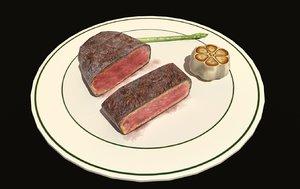 steak vr ar model