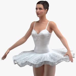 3D model ballerina t pose