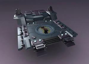 3D science fiction strobe work
