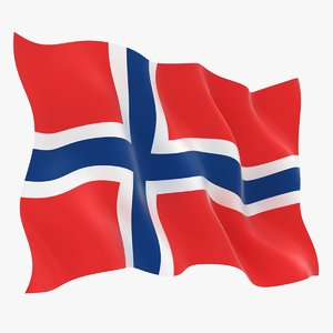 norway flag animation 3D