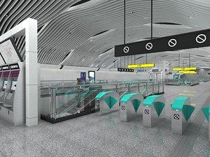 subway station 1 3D model