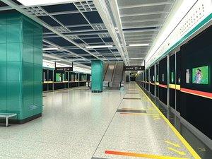 3D subway station 3
