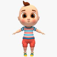 Cartoon Baby rigged model