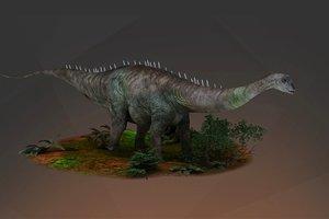 3D model diplodocus dinosaur apatosaurus brachiosaurus
