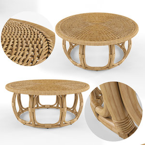 3D anguilla rattan coffee table