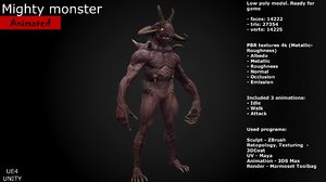 3D mighty monster