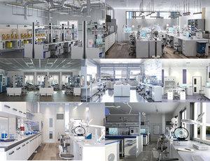 3D scientific laboratory set