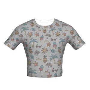 tucked t-shirt pattern 3D model