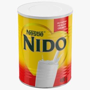 3D model nido instant milk