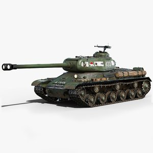 is-2 tank gameready is2 3D model