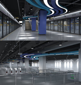3D subway station 2