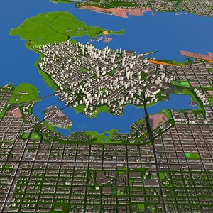 3D vancouver city