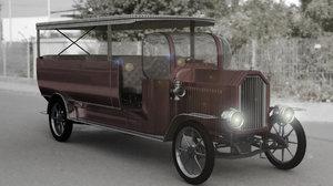 old bus truck 3D model