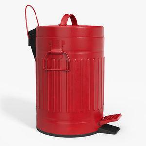 3D pedal trash bin contains