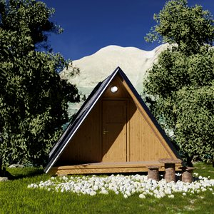 glamping cabin 3D model