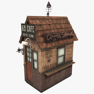 3D stylized coffee cafe