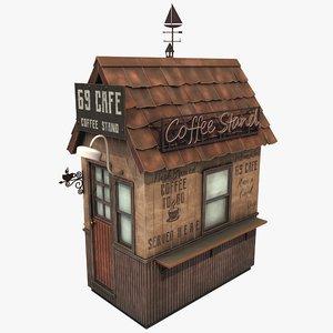 3D stylized coffee cafe