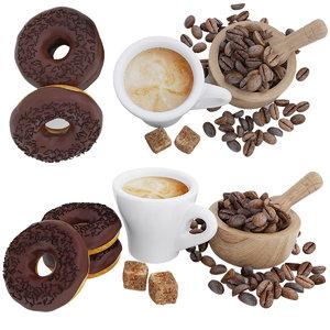 3D coffee donut