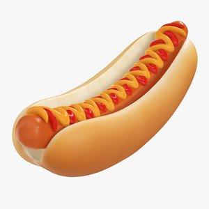 mustard dog hot 3D