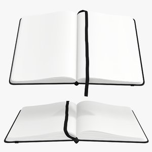 3D model hardcover strap notebook