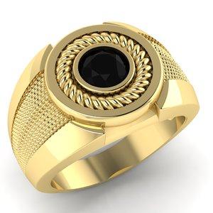 signet ring gem carat 3D model